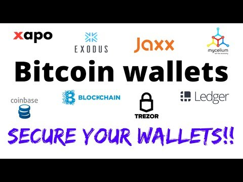Bitcoin wallets  Keeping your bitcoin safe!!