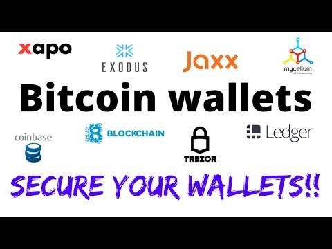 Bitcoin wallets  Keeping your bitcoin safe!!
