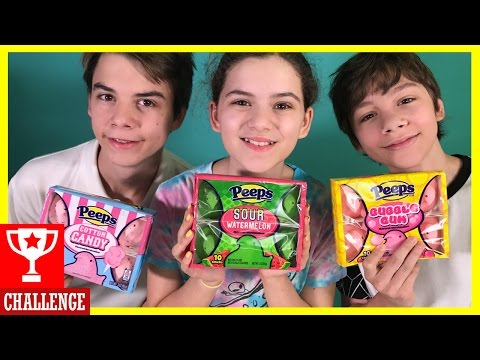 TRYING WEIRD PEEPS FLAVORS!  PEEPS TASTE TEST CHALLENGE! |  KITTIESMAMA