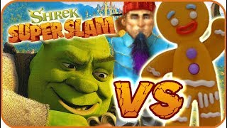 Shrek Super Slam Game Part 3 (Gamecube, PC, PS2, XBOX) Gingerbread Man VS G-Nome