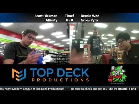 Modern w/ Commentary 5/3/18: Scott Hickman (Affinity) vs. Bernie Wen (Grixis Pyro)