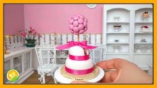 Làm bánh kem màu hồng tí hon - Pink cake
