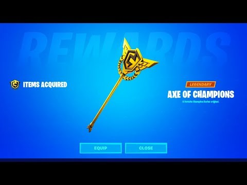 How To Get The Free Arena Pickaxe In Fortnite! (Free Axe Of Champions Arena Pickaxe Rewards)