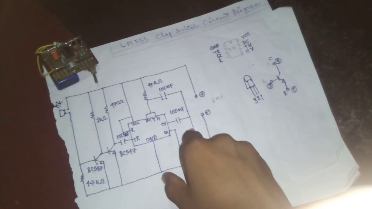 About Lm555 Clap Switch Circuit Diagram Youtube Of