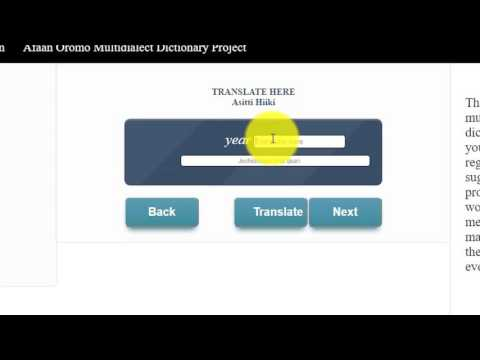 Afaan Oromoo Translation Project Tutorial
