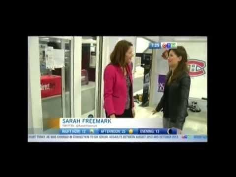 Hockey Fan Cave with Synthetic Ice at Ottawa Home & Design Show