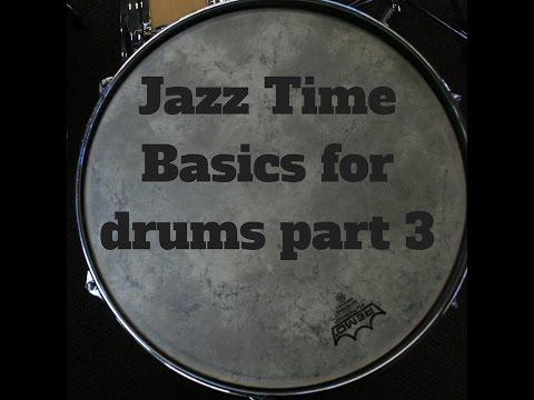 Jazz Drum Lesson-Jazz Time Basics 3
