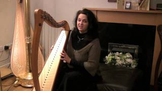 How to sit at your harp correctly