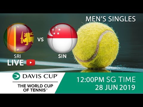 Sri Lanka 🇱🇰 vs 🇸🇬 Singapore Singles Match 2 | Davis Cup Asia Oceania Group III