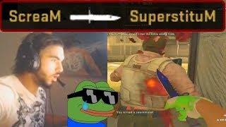 ScreaM Plays Matchmaking with SuperstituM (CS:GO)