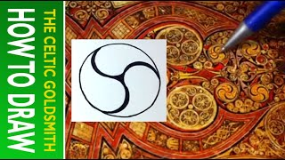 How to Draw Celtic Sprials 2 - Triple Spirals from the Book of Kells 1/2