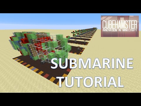 Tutorial: Minecraft Slimeblock Submarine for PC, Xbox and Playstation
