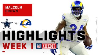 Malcolm Brown Starts 2020 w/ 2 TDs vs. Cowboys | NFL 2020 Highlights