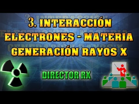 3 interacción electrones materia Generación RX  || Pedro Ruiz Manzano