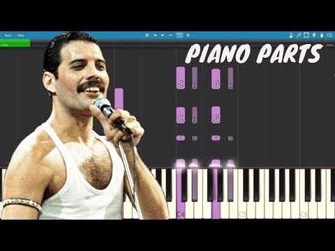 Bohemian Rhapsody Piano Parts ONLY - Panic At The Disco / Queen - Piano Tutorial