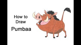 How to Draw Pumbaa from the Lion King