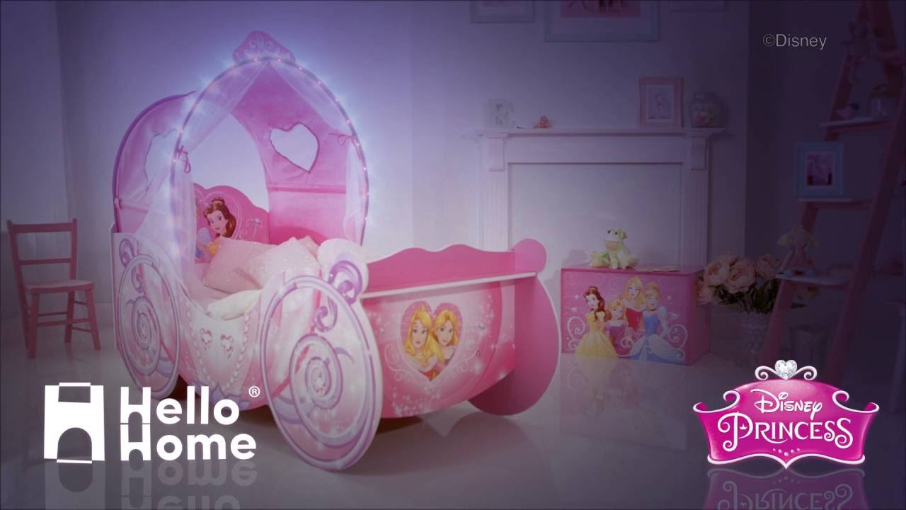 HelloHome Disney Princess Carriage Toddler Bed & HelloHome Disney Princess Carriage Toddler Bed - YouTube