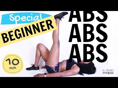 AB WORKOUT FOR BEGINNERS AT HOME | Home Workout - Koboko Fitness