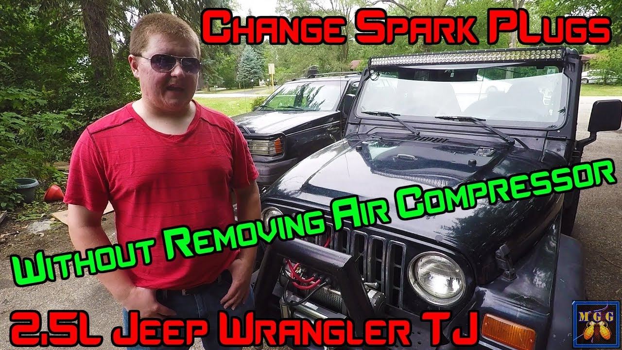 How To Change The Spark Plugs On A 25l Jeep Wrangler Without 1995 2 5l Wiring Diagram Removing Air Compressor