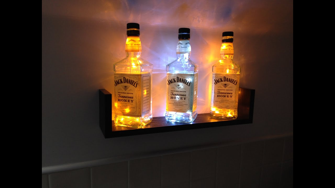 how to build a jack daniels bottle light display - also works with