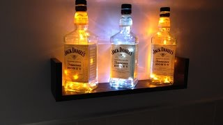 How to build a Jack Daniels bottle light display - Also works with Rum, Vodka, Gin bottles