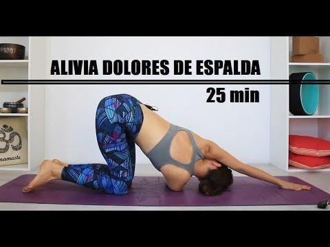 Ejercicios para aliviar dolores de espalda, lumbalgia y ciatica | 25 min Elena Malova