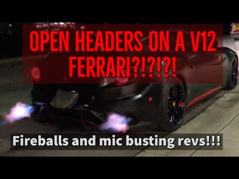 The Ferrari FF Sounds Wonderful With Open Headers