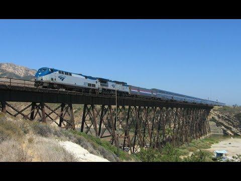 Amtrak Trains on the Scenic Santa Barbara Coast