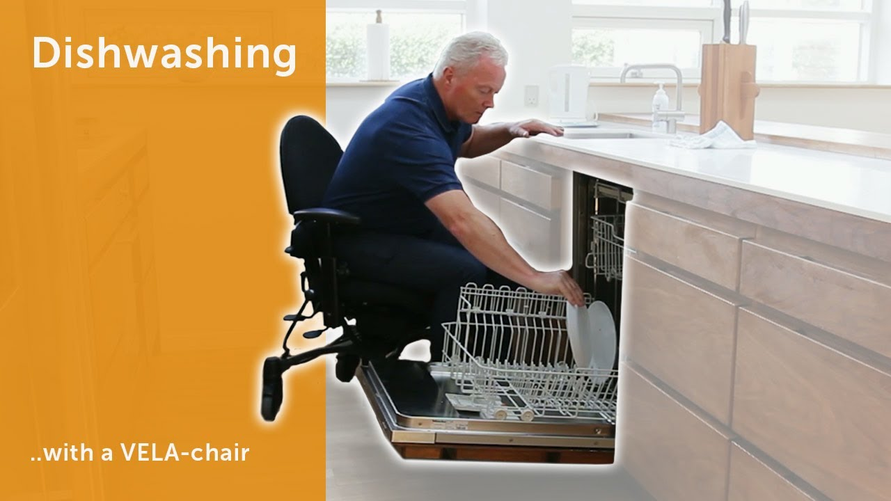 Dishwashing - With a VELA-chair