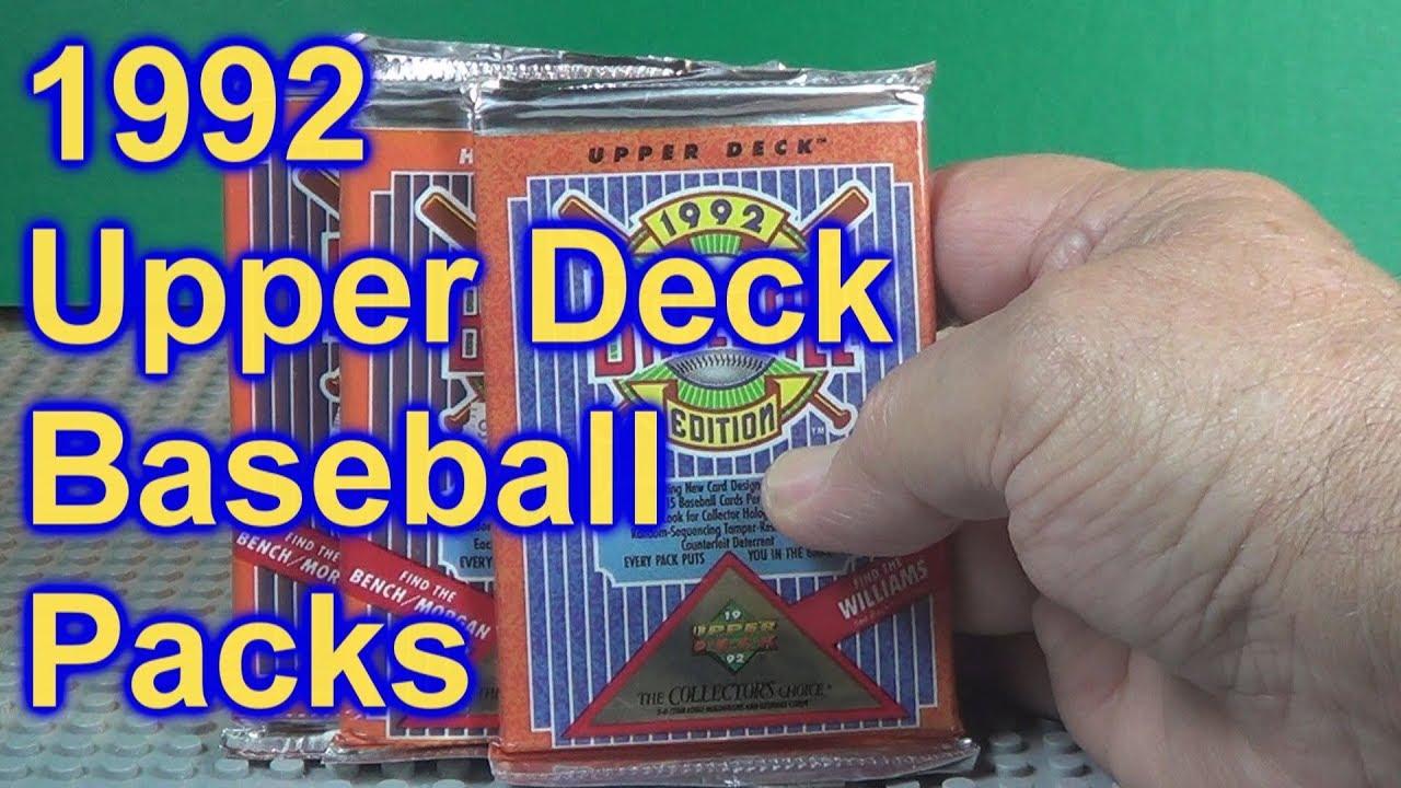 1992 Upper Deck Baseball Cards Opening 3 Packs