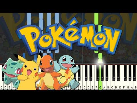 Pokemon Theme (Gotta Catch 'Em All) - Piano Cover w/ Midi + Sheet Music (Synthesia)