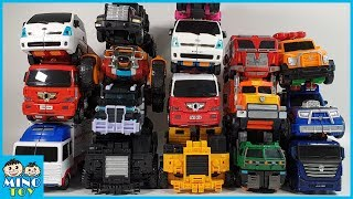 Full of 18 Truck Toys Tobot Miniforce Carbot Transformers transform to robots!