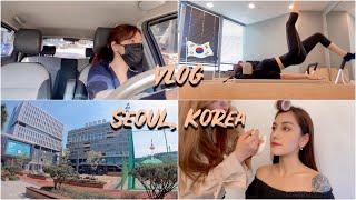 VLOG Побывала у подруги в корейском университете Макияж от кореянки