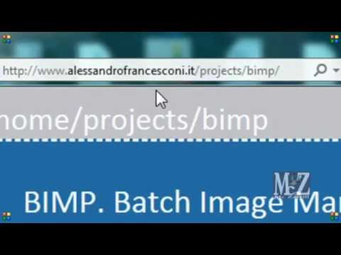 Speed Tutorial Gimp - Come installare Bimp - How to install Bimp