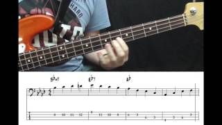 David Lee Roth -  Just a Gigolo (Bass cover with tabs)