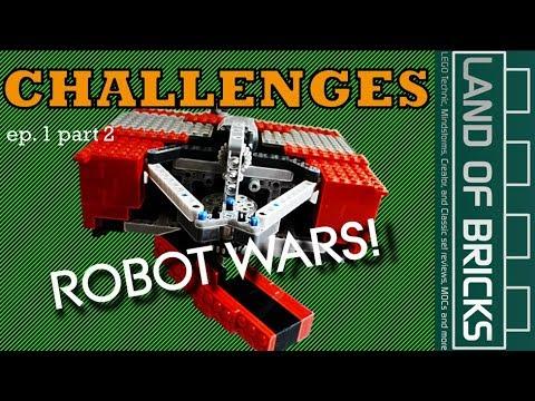 Land Of Bricks Building Challenges E1P2 - Fighting Robots!