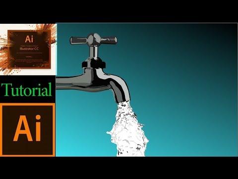 Water Tap in Adobe Illustrator Tutorial 2019