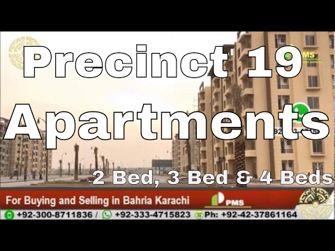 Bahria Karachi 2 Bed ,3 Bed & 4 Bed Apartments in Precinct 19 Presented by PMS Near to Main Entrance