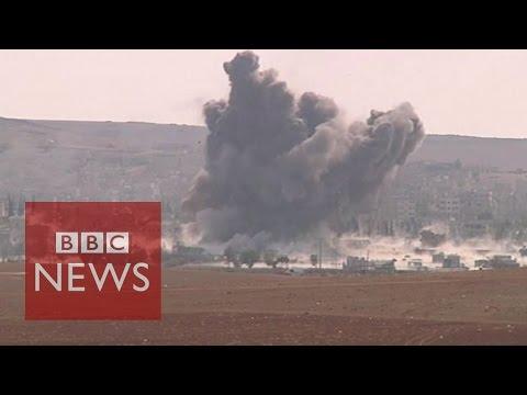 Video shows massive Kobane blast