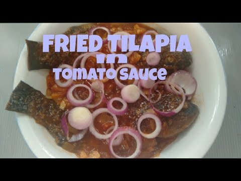 FRIED TILAPIA IN TOMATO SAUCE RECIPE