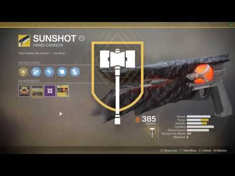 Destiny 2 Legend Of Acrius Catalyst Drop Rate Destiny 2 Easy Sunshot Catalyst Farm And Completion Not On
