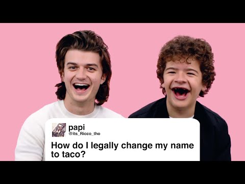 Download Youtube: Stranger Things' Joe & Gaten Give Advice to Strangers on the Internet | Glamour