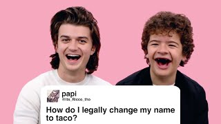 Download Stranger Things' Joe & Gaten Give Advice to Strangers on the Internet | Glamour Mp3 and Videos