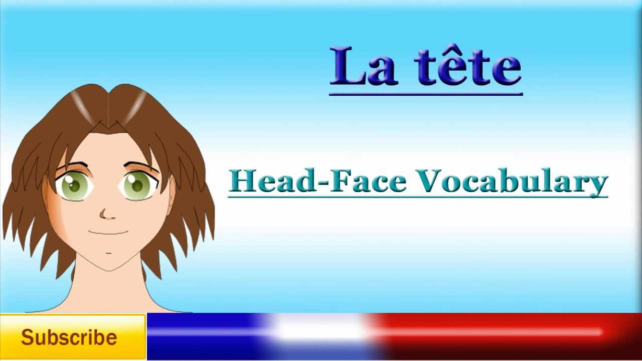 french lesson 40 learn french body parts vocabulary head and face partes del cuerpo. Black Bedroom Furniture Sets. Home Design Ideas