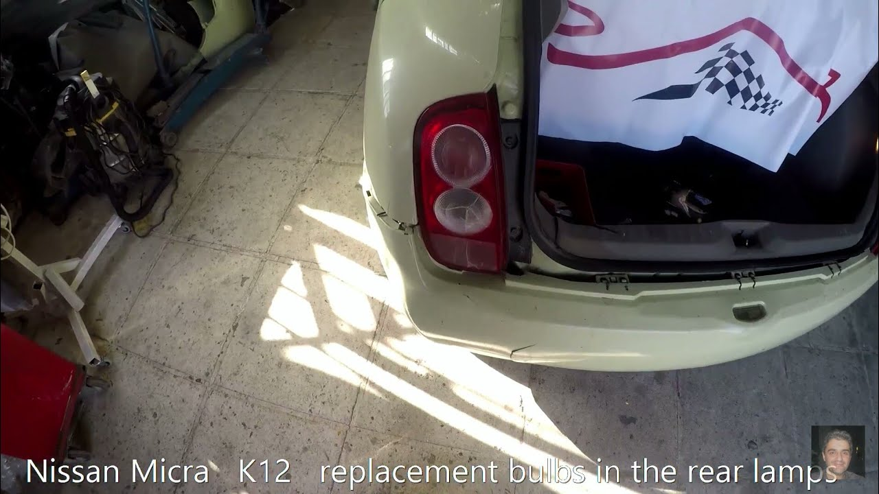Nissan Micra k12 How to replace rear tai light on