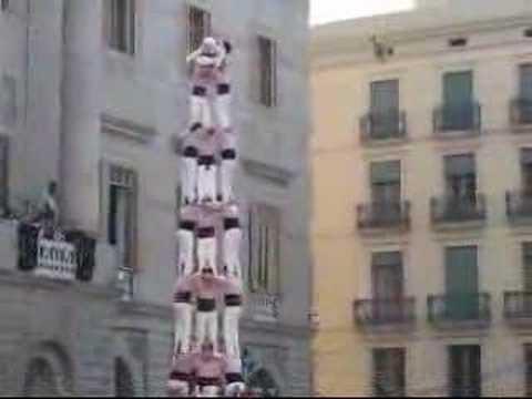Castells Castillos Human Towers Barcelona Spain 3de9