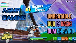 ASMR Gaming | Fortnite Unbeatable Duo Is Back! Gum Chewing 🎮🎧Controller Sounds + Whispering😴💤