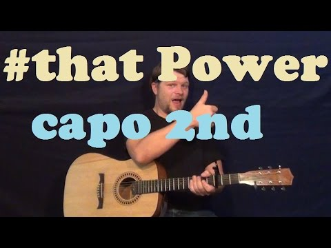 #thatPOWER (will.i.am ft. Justin Bieber) Easy Strum Guitar Lesson How to Play Tutorial - Capo 2nd
