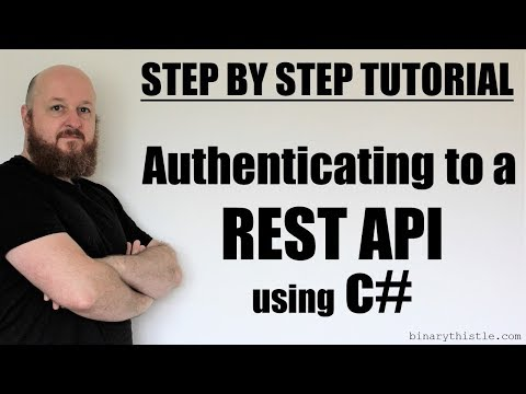Step by Step Tutorial - Authenticating to a REST API in c#