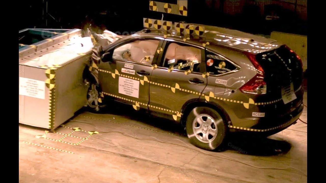 2012 Honda Cr V Frontal Oblique Offset 35 Overlap